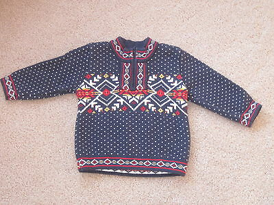 Hanna Andersson Long Sleeved Nordic Pattern Heavy Knit Sweater 80 10-24 Month