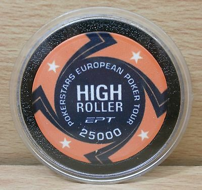 Ept European Poker Tour High Roller $25,000 Pokerstars Poker Chip Card Guard