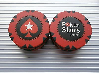 10 NEW POKERSTARS.COM 12g CASINO POKER CHIPS - BRAND NEW