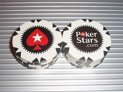10 NEW POKERSTARS.COM 12g CASINO POKER CHIPS WPT WSOP