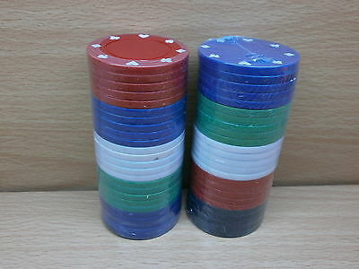 50 LIGHTWEIGHT POKER CASINO CHIPS 4.5g NEW & SEALED