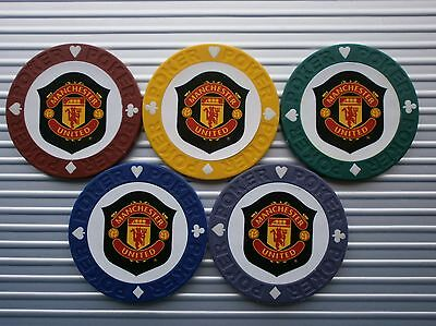 5 Man United Casino Poker Chips - Red Devils