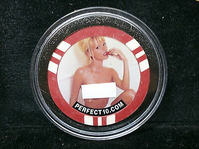 Perfect 10 Magazine Topless Model Poker Chip Card Protector (Adult Content)