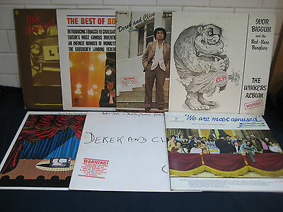 Lot of 7 Classic Comedy LPs original issues all EX to EX+ condition Monty Python