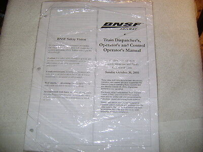 BNSF Train Dispatcher's, Operator's and Control Operator's Manual 10/30/2005