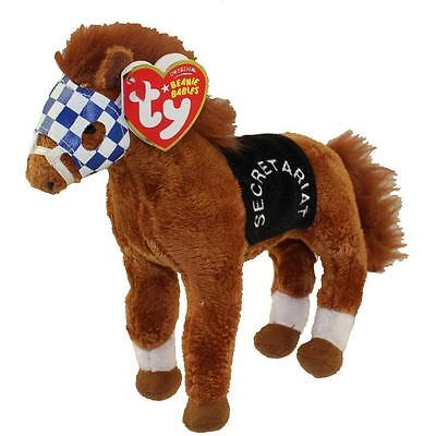 Ty Beanie Babies SECRETARIAT the horse Triple Crown Winner MINT with MINT TAGS