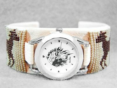Navajo Watch Hand Beaded Four Horses Ponies Indian Western Native American Z