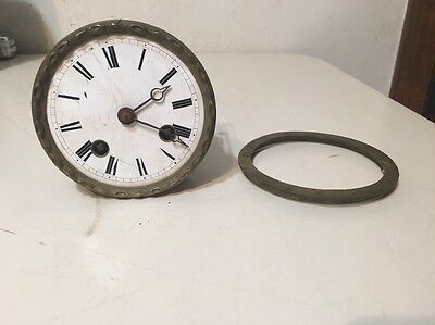 Antique French Figural Statue Mantle Clock Movement Possibly Leroy Freres