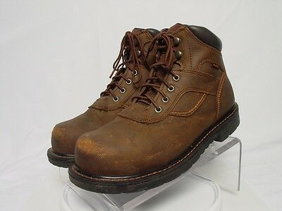 WORX RED WING 5605 Men 9-M Brown Leather Safety Steel Toe Work Boots