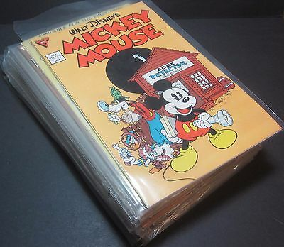 Lot of 38 Walt Disneys Mickey Mouse #219 256 1986 Gladstone Comics 1 Owner CLEAN