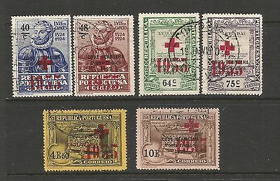 PORTUGAL 1933 -  Sc#1S42 - 1S47, Red Cross, CAMOES. Overprinted,