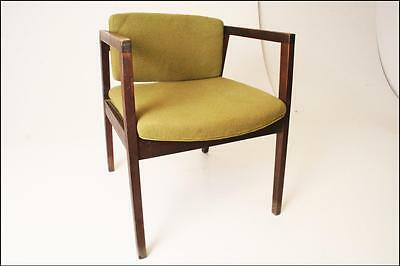 Vintage DANISH MODERN CHAIR mid century 60s retro office cloth upholstered AS IS