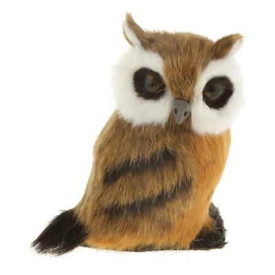 Standing OWL Plush Toy 8cm Desk Room Ornament Crafted Kid Christmas Gift #2