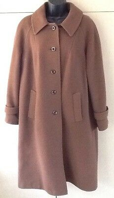 CZARINA LADIES PURE NEW WOOL VINTAGE TRENCH STYLE COAT Size 16/18