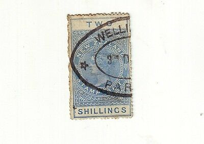 1880s PACIFIC OCEAN   QUEEN VICTORIA    TWO SHILLINGS DUTY  POSTAL USE