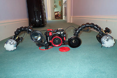 Olympus xz-2 full dive setup Sea&Sea ys-01 strobes inon H100 wide angle lens