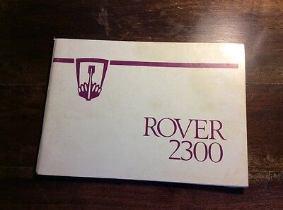 Rover 2300 SD1 owners handbook
