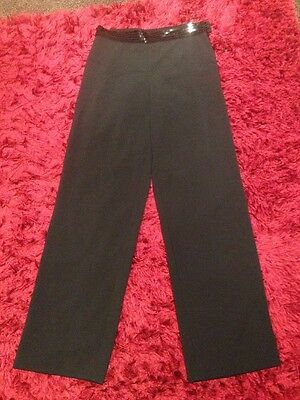 Ladies Size 12 Black Gina Bacconi Trousers Evening Party Sequins