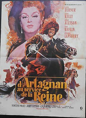 THE THREE MUSKETEERS 24x32 French Lana TURNER