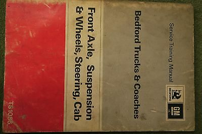 Bedford Trucks Coach TK Workshop Service Manual TS1086 Axle suspension steering