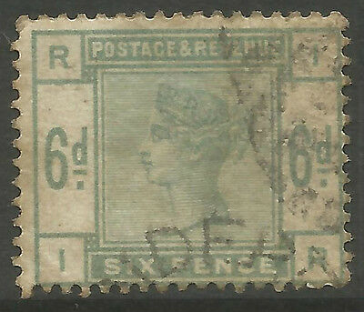 Gb Q.v.  Sg194   6D  Dull Green    (I-R)    Used