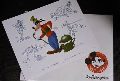 Disney Epcot Flower And Garden Passholder Prints 2016 Goofy By Don Williams