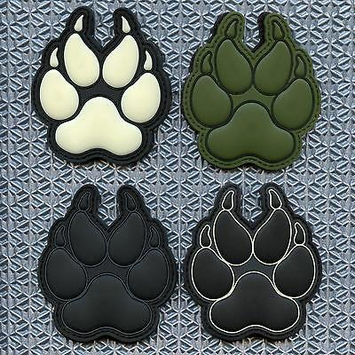 K-9 handler morale paw K9 police dogs of war PVC military tactical hook patch