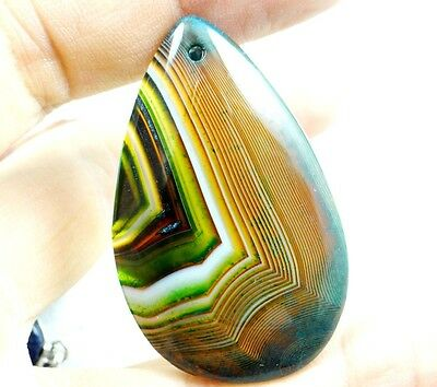 51*31MM Natural picture  agate pendant Gemstone Loose Beads A45
