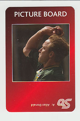 Cricket : Allan Donald : South Africa : UK sports game card - red back