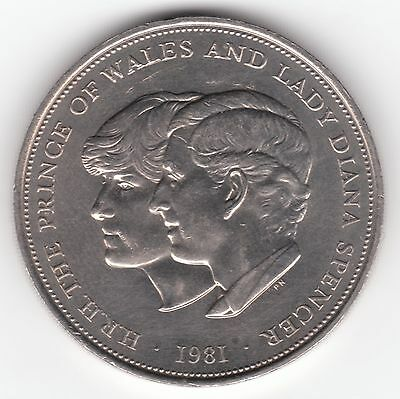 United Kingdom 25p Pence 1981 Copper-Nickel Coin - Wedding of Charles and Diana