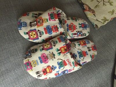 Cath Kidston robot print ladies slippers size small