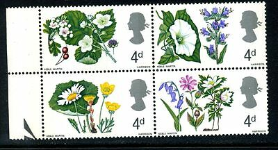 1967 Flowers 4d phosphor positional variety 10/2