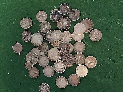 Silver coin collection worn scrap or collect