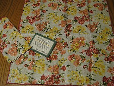 2 Longaberger napkins Snapdragon new in package