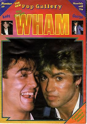 George Michael Wham Pop Gallery Foldout Poster Magazine No 19 Excellent