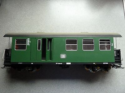 LGB 30710 DB COMBINE PASSENGER COACH With METAL WHEELS & INTERIOR LIGHTS