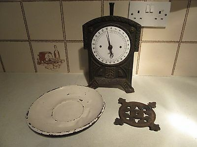 Vintage Cast Iron Upright Kitchen Scales - **collection Only**