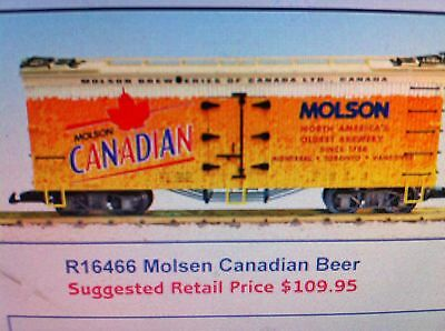 USA Trains G Scale 16466 U.S. REEFER CAR Molsen Canadian Beer NEW RELEASE