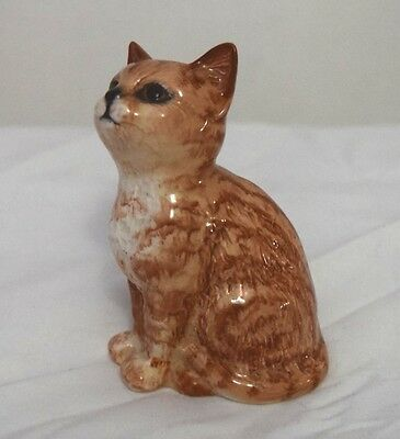 Beswick Persian Kitten Seated Ginger  Swiss Roll  Model 1886 Cat Old Stamp