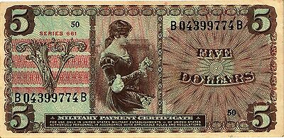 USA - 5 Dollars n.d., military issue, Series 661