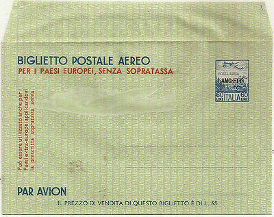 ITALY AMG-FTT TRIESTE ZONE 1 AIRLETTER SHEET w/OVERPRINT MINT UNUSED VGC