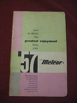 1957 METEOR OPERATING INSTRUCTIONS OWNERS MANUAL Canada