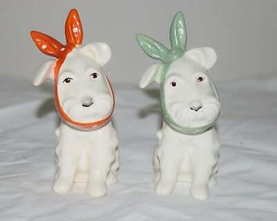 Beswick Pair Dog With Toothache Red And Green Kerchief  Model 761 Old Stamp