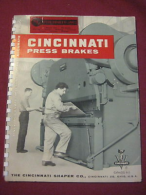 Vintage Cincinnati Press Brakes Shapers Shears Catalog Catalouge B-5 Advertising