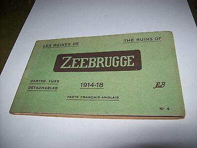 zeebrugge belgium  pack illustrated postcards war damage 1914-1918 original