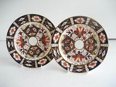 Pair Victorian Royal Crown Derby Traditional Imari 2451 Side Plates Date 1899
