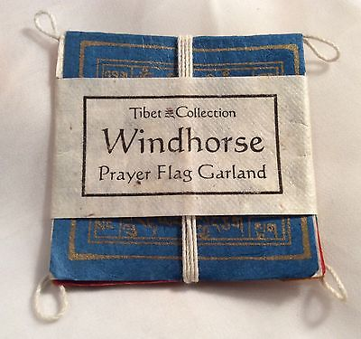 Tibet Collection Windhorse Prayer Flag Garland - Still Wrapped - 2 1/2 Inches