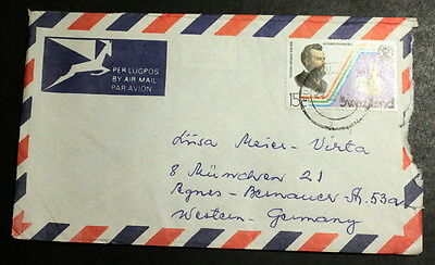 Swaziland cover to Germany #019