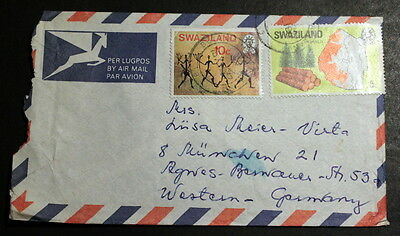 Swaziland 1977 cover to Germany #018