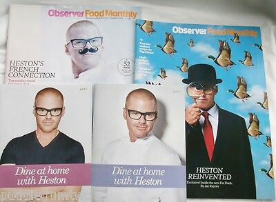 Observer Food Monthly x2 Dine at Home with Heston BLUMENTHAL 2 Pts Nigel SLATER